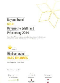 Gold-Himbeerbrand